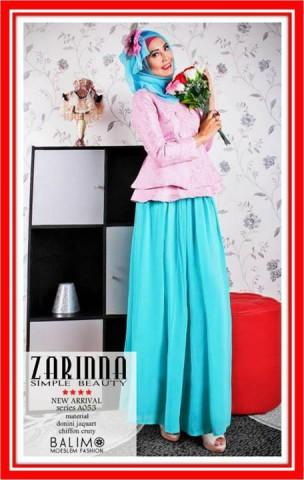 baju muslimah online shop  Balimo Zarinna Peach blue