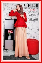 baju muslim modern  Balimo Zarinna Red Brown