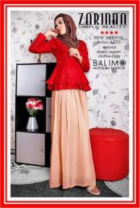 baju muslim modern  Balimo Zarinna Red Brown
