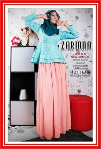 baju muslim pesta terbaru  Balimo Zarinna Turkish Soft Orange