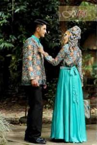 baju muslimah butik  DRUPADI & PANDAWA Hijau