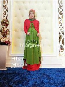 baju muslim anak terbaru  GRIDIE by Marghon Hijau Merah