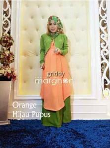 pakaian muslim anak muda GRIDIE by Marghon Orange hijau Pupus