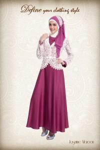 baju muslimah online  JASMINE Maroon