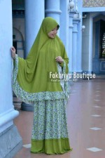 busana muslim dan jilbab terbaru Marwa by Fakhriya Boutique Hijau
