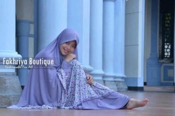 busana muslim jilbab Marwa by Fakhriya Boutique Ungu