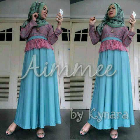 Aimme By Kynara Blue Baju Muslim Gamis Modern