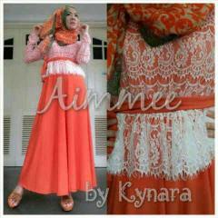 baju muslim gamis modern Pusat-Gamis-Terbaru-Aimme-by-Kynara-Orange