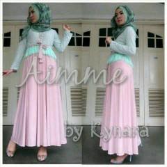 baju gaun muslim modern  Pusat-Gamis-Terbaru-Aimme-by-Kynara-Pink