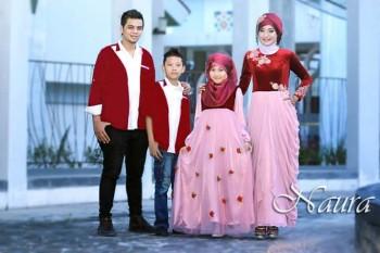 gaun muslim couple Pusat-Gamis-Terbaru-Allisa-by-Naura-Fikri-Merah