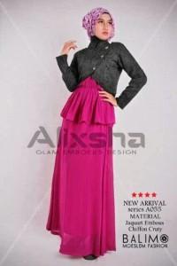 baju muslimah online  Pusat-Gamis-Terbaru-Balimo-Alixsha-Black
