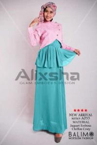 baju muslim terbaru 2014  Pusat-Gamis-Terbaru-Balimo-Alixsha-Pink
