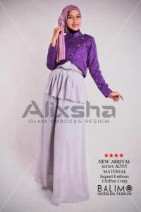 baju muslim terbaru Pusat-Gamis-Terbaru-Balimo-Alixsha-Purple