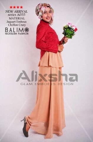 baju muslim modern full Pusat-Gamis-Terbaru-Balimo-Alixsha-Milo
