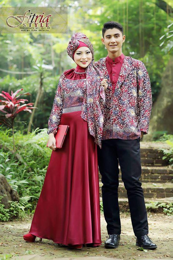 Drupadi By Fitria Style Marun Baju Muslim Gamis Modern