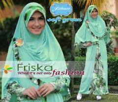 baju muslimah pesta Pusat-Gamis-Terbaru-Jihan-Syar'i-By-Friska-Soft-Green