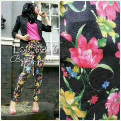 baju muslim atasan modern  Pusat-Gamis-Terbaru-Pants-Louise-3-by-kynara-hitam
