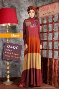 baju muslim dress modern Pusat-Gamis-Terbaru-Step-Up-Casio-Marun