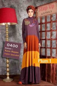 baju muslimah gaya Pusat-Gamis-Terbaru-Step-Up-Casio-Plum-1