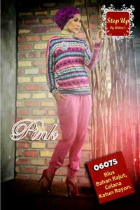 baju muslimah online, Pusat-Gamis-Terbaru-Step-Up-Jayden-Pink