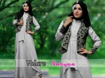 baju muslimah elegan Pusat-Gamis-Terbaru-Volare-Abu-by-Nasywanisa