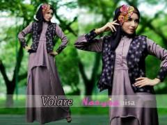 baju muslim simple elegan Pusat-Gamis-Terbaru-Volare-Dusty-Ungu-by-Nasywanisa