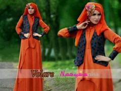 baju muslim grosir online Pusat-Gamis-Terbaru-Volare-Orange-by-Nasywanisa