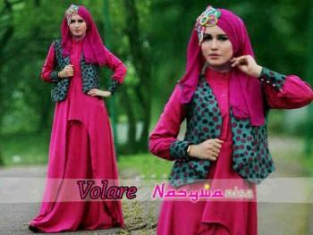 baju muslimah pesta Pusat-Gamis-Terbaru-Volare-Shocking-Pink-by-Nasywanisa