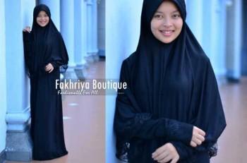 model baju pesta muslim wanita  Pusat-Gamis-terbaru-New-Aulia-by-Fakhriya-Boutique-Hitam