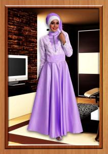 baju-muslim-elegan-wanita-Pusat-gamis-Terbaru-Dafine-Purple Tafetta