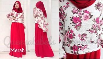 baju muslimah online  QUEENA PRISIA Merah