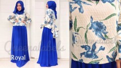baju muslim modis  QUEENA PRISIA Royal Blue