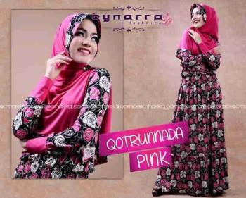 gamis hijab terbaru Qoutrunadda By Cynarra Pink