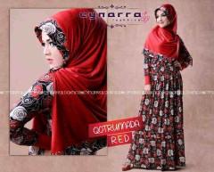 gamis hijab style Qoutrunadda By Cynarra Red