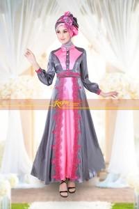 baju muslimah pesta  Rajna 11 Grey Fanta