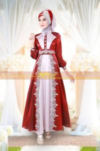 baju muslim pesta wanita  Rajna 11 Maroon Grey