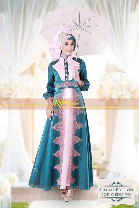 busana muslim pesta wanita  Rajna 11 Tosca Pink