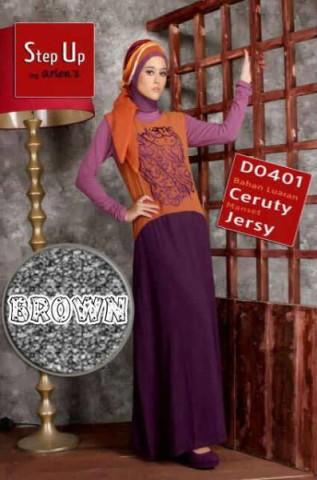 busana muslim wanita untuk pesta  Step Up CARLIN Brown