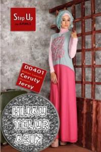 model baju pesta muslim wanita  Step Up CARLIN Hijau Telur Asin