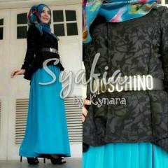 baju muslim anak perempuan  Syafia by Kynara Black