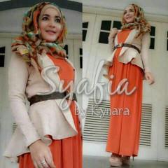 baju muslim branded online  Syafia by Kynara Brown