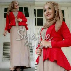 baju muslimah online Syafia by Kynara Red