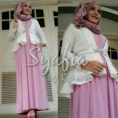 baju muslim terbaru  Syafia by Kynara White