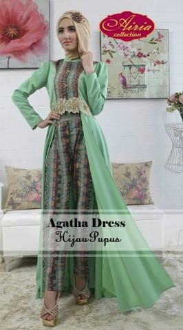 Pusat-Gamis-Terbaru-Agatha-Dress-by-Airia-Hijau-Pupus