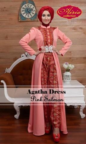 baju muslim elegan modern Pusat-Gamis-Terbaru-Agatha-Dress-by-Airia-Pink-Salman