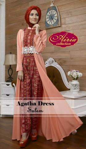 model baju gamis untuk orang gemuk Pusat-Gamis-Terbaru-Agatha-Dress-by-Airia-Salem