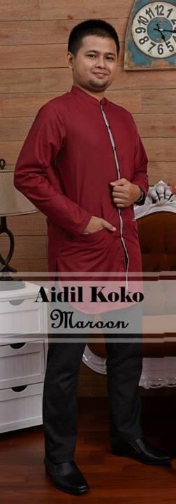 baju brokat muslim modern, Pusat-Gamis-Terbaru-Aidil-Koko-by-Airia-Maroon