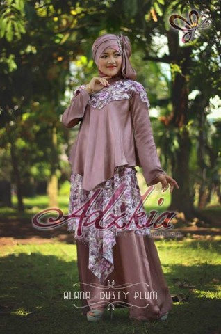 baju muslim terbaru 2014 Pusat-Gamis-Terbaru-Alana-by-Adzkia-Fashio-Dusty-Plum