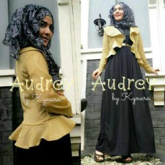 baju muslimah fesyen terkini  Pusat-Gamis-Terbaru-Audrey-by-kynara-Black