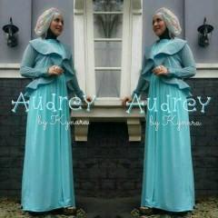 baju muslim elegan wanita Pusat-Gamis-Terbaru-Audrey-by-kynara-Blue